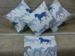 40cm Running horses cushion with pad